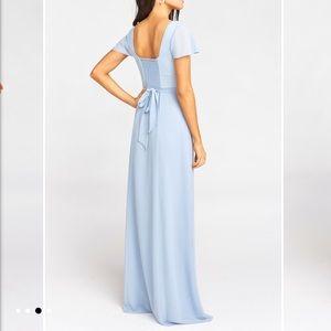 Show Me Your Mumu Marie Sweetheart Dress Blue M